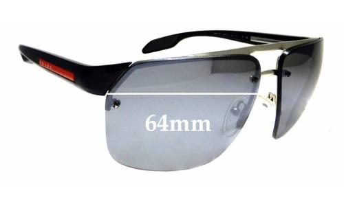 Sunglass Fix Sunglass Replacement Lenses for Prada SPS 57O - 64mm wide