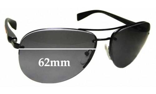 Sunglass Fix Sunglass Replacement Lenses for Prada SPS56M - 62mm Wide
