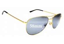 Sunglass Fix Sunglass Replacement Lenses for Ralph Lauren Polo PH 3084 - 58mm Wide