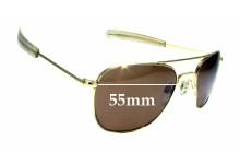 Sunglass Fix Sunglass Replacement Lenses for Randolph Engineering Aviator RE 5 1/2 - 55mm Wide