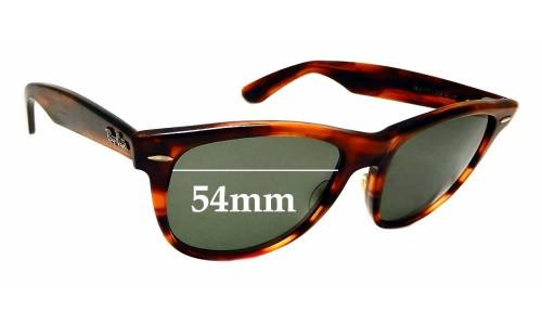 Sunglass Fix Sunglass Replacement Lenses for Ray Ban B&L Wayfarer II USA - 54mm Wide