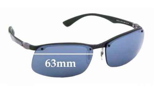 Sunglass Fix Sunglass Replacement Lenses for Ray Ban RB8314 - 63mm Wide * Professional Installation Recommended*