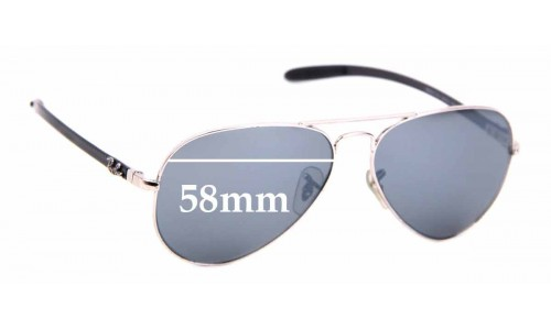 Sunglass Fix Sunglass Replacement Lenses for Ray Ban RB8317-CH - 58mm Wide