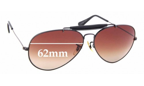 Sunglass Fix Sunglass Replacement Lenses for Ray Ban B&L Outdoorsman - 62mm Wide