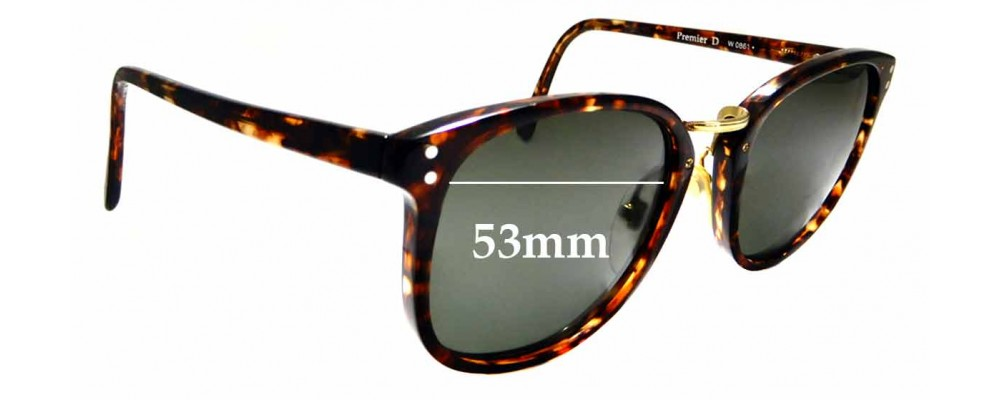 Sunglass Fix Sunglass Replacement Lenses for Ray Ban B&L Premier D W0861 - 53mm Wide