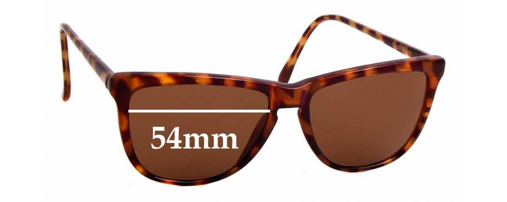 Sunglass Fix Sunglass Replacement Lenses for Ray Ban B&L W1556 - 54mm Wide