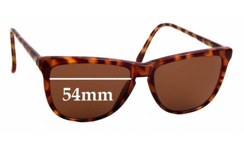 Sunglass Fix Sunglass Replacement Lenses for Ray Ban Bausch Lomb W1556 - 54mm wide