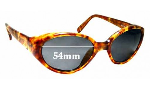 Sunglass Fix Sunglass Replacement Lenses for Ray Ban B&L Rituals W2789 - 54mm Wide