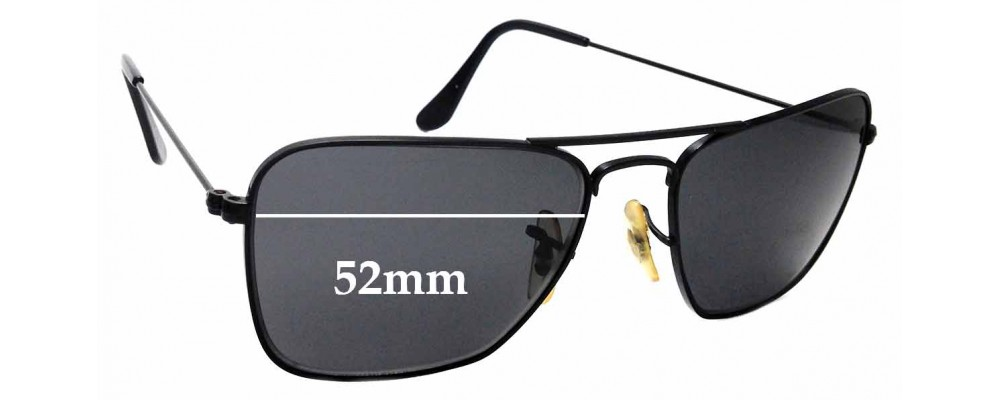 Sunglass Fix Sunglass Replacement Lenses for Ray Ban Aviator RB3136 Caravan Small Square - 52mm Wide