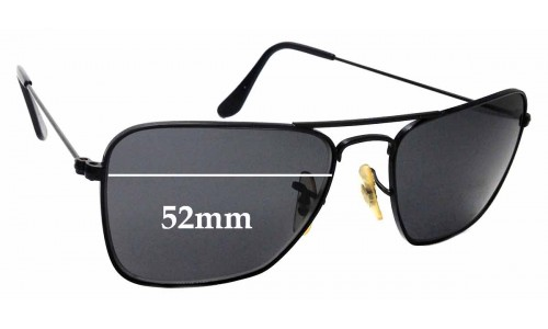 Sunglass Fix Sunglass Replacement Lenses for Ray Ban Caravan Small RB3136 Square Aviators - 52mm Wide