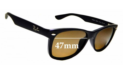 Sunglass Fix Sunglass Replacement Lenses for Ray Ban Jr RJ9052-S - 47mm Wide