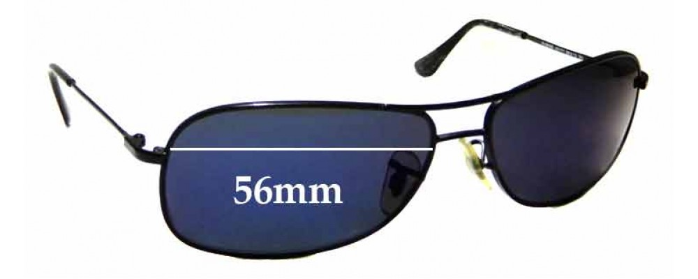 Sunglass Fix Sunglass Replacement Lenses for Ray Ban Jr RJ9508-S - 56mm Wide