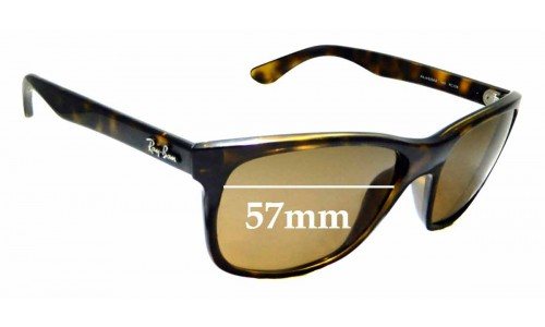 Sunglass Fix Sunglass Replacement Lenses for Ray Ban RAJ4935AA - 57mm wide