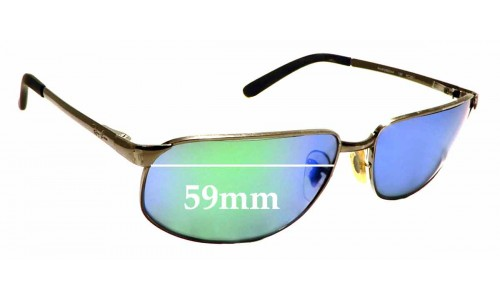 Sunglass Fix Sunglass Replacement Lenses for Ray Ban RAM2062AA RC001 - 59mm Wide x 35mm Tall