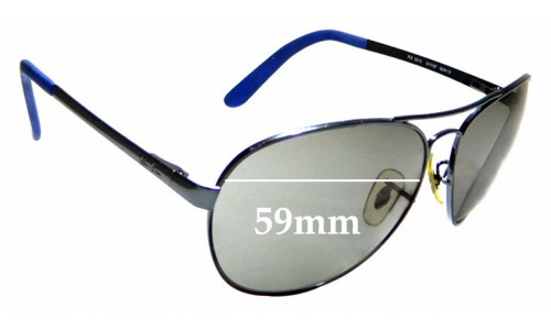 Sunglass Fix Sunglass Replacement Lenses for Ray Ban RB 3213 - 59mm Wide