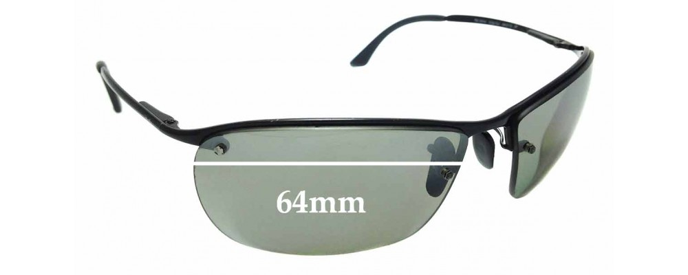 Sunglass Fix Sunglass Replacement Lenses for Ray Ban RB3544 - 64mm Wide