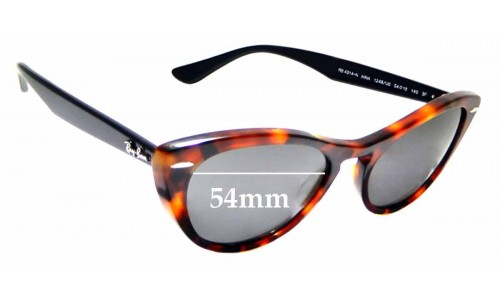 Sunglass Fix Sunglass Replacement Lenses for Ray Ban RB 4314-N Nina - 54mm wide