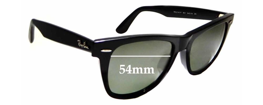 d43955ee88a Sunglass Fix Sunglass Replacement Lenses for Ray Ban RB2140-F Wayfarer 54mm  wide