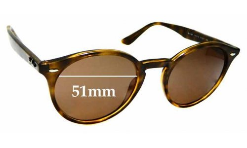 Sunglass Fix Sunglass Replacement Lenses for Ray Ban RB2180 - 51mm Wide