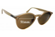 Sunglass Fix Sunglass Replacement Lenses for Ray Ban RB2180-F - 51mm Wide