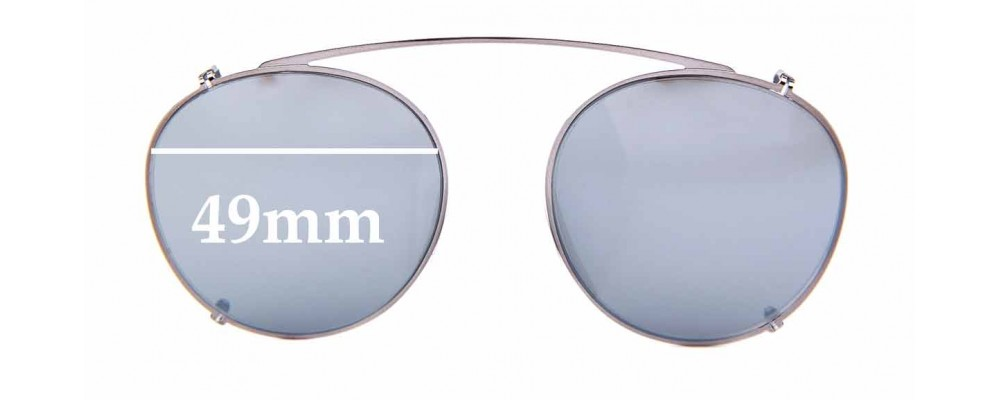 Sunglass Fix Sunglass Replacement Lenses for Ray Ban RB2447-C Clip on - 49mm Wide