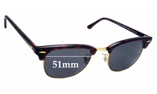 Sunglass Fix Sunglass Replacement Lenses for Ray Ban WO366 RB3016 Clubmaster - 51mm Wide