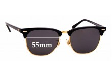 Sunglass Fix Sunglass Replacement Lenses for Ray Ban Clubmaster RB3016F - 55mm Wide