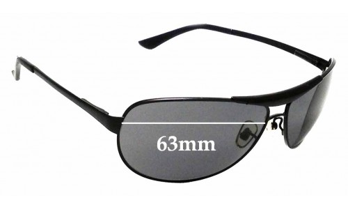 Sunglass Fix Sunglass Replacement Lenses for Ray Ban RB 3324 - 63mm Wide