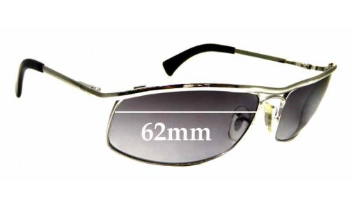 Sunglass Fix Sunglass Replacement Lenses for Ray Ban RB3339 - 62mm Wide