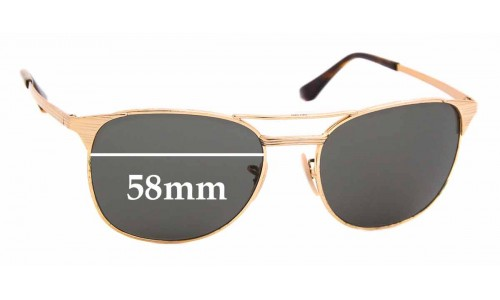 Sunglass Fix Sunglass Replacement Lenses for Ray Ban RB3429-M - 58mm Wide