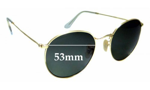 Sunglass Fix Sunglass Replacement Lenses for Ray Ban RB3447 Round Metal - 53mm Wide