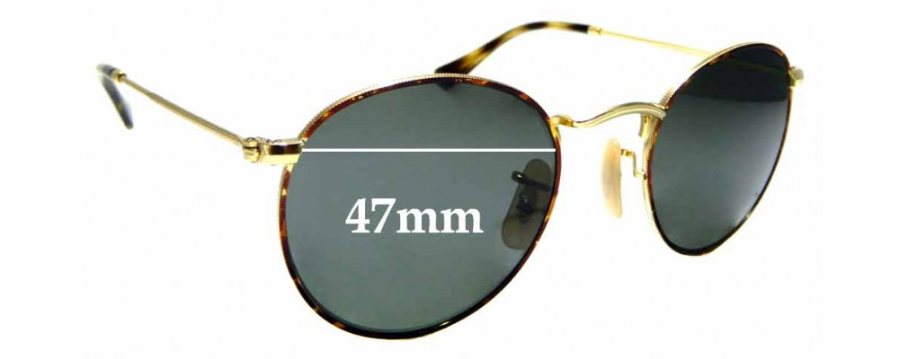Sunglass Fix Sunglass Replacement Lenses for Ray Ban RB3447-V - 47mm Wide x 44mm Tall