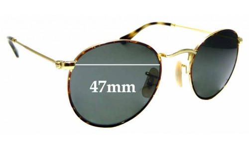 Sunglass Fix Sunglass Replacement Lenses for Ray Ban RB3447V - 47mm wide