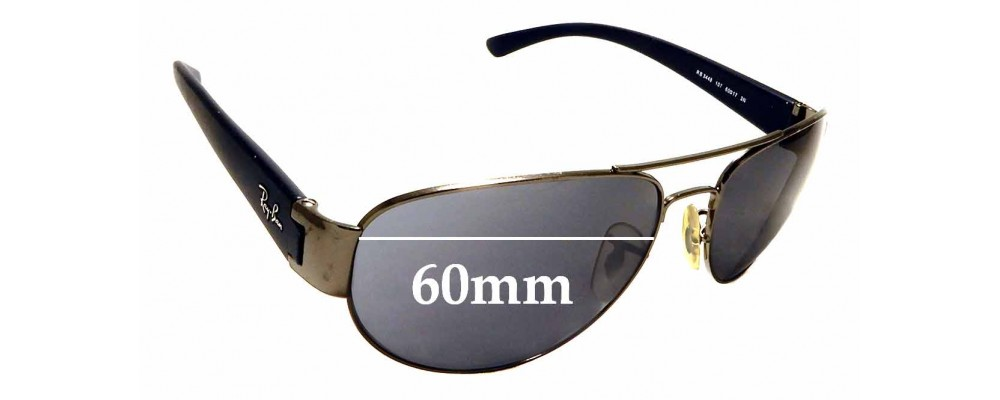 Sunglass Fix Sunglass Replacement Lenses for Ray Ban RB3448 - 60mm Wide