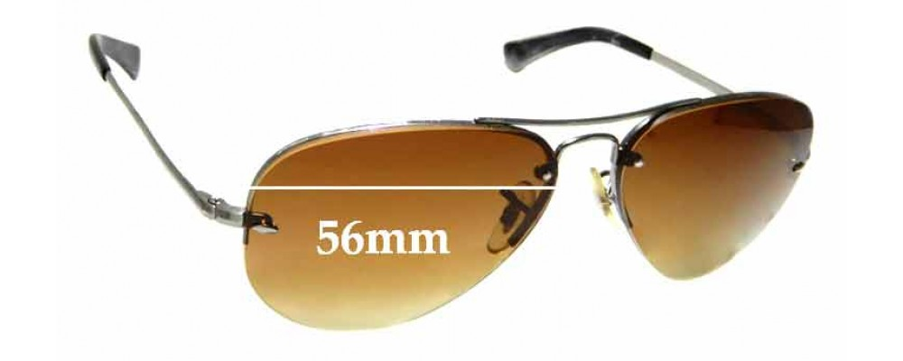 Sunglass Fix Sunglass Replacement Lenses for Ray Ban Aviator RB3449 - 56mm Wide
