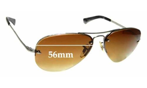 Sunglass Fix Sunglass Lenses for Ray Ban Aviators RB3449 - 56mm across