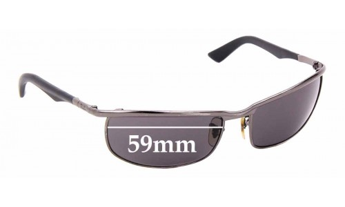 Sunglass Fix Sunglass Replacement Lenses for Ray Ban RB3459 - 59mm Wide