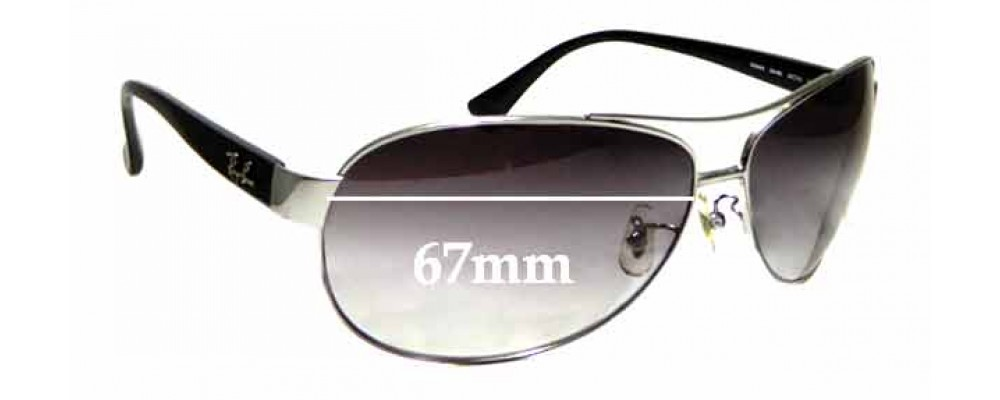 Sunglass Fix Sunglass Replacement Lenses for Ray Ban RB3464 - 67mm Wide