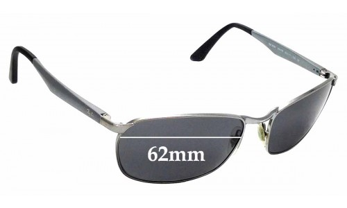 Sunglass Fix Sunglass Replacement Lenses for Ray Ban RB3534 - 62mm wide