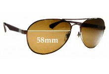 Sunglass Fix Sunglass Replacement Lenses for Ray Ban RB3549 - 58mm Wide