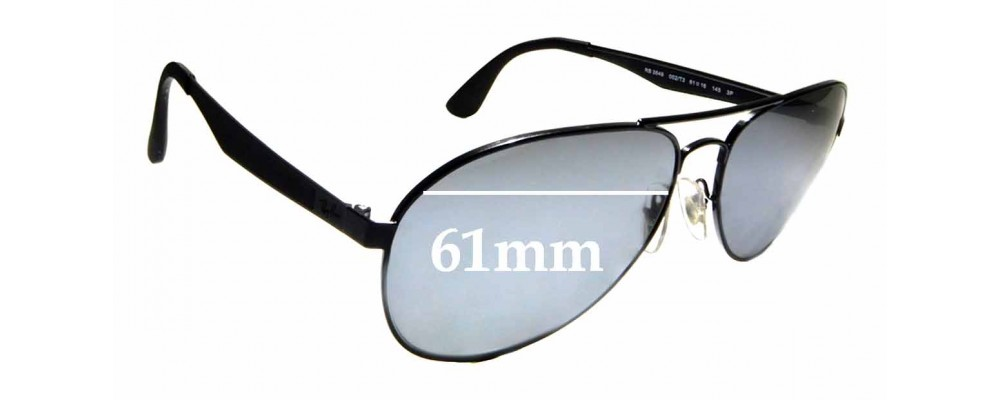 Sunglass Fix Sunglass Replacement Lenses for Ray Ban RB3549 - 61mm Wide