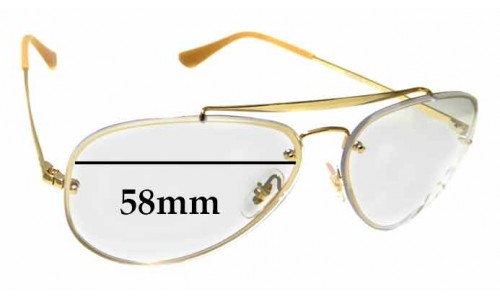 Sunglass Fix Sunglass Replacement Lenses for Ray Ban RB3584-N - 58mm Wide