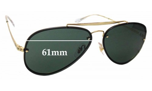 Sunglass Fix Sunglass Replacement Lenses for Ray Ban RB3584-N - 61mm Wide