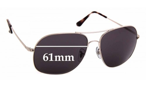 Sunglass Fix Sunglass Replacement Lenses for Ray Ban RB3587 - 61mm Wide