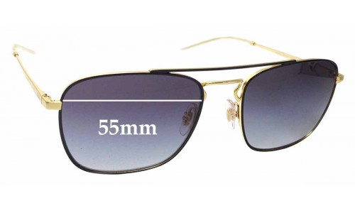 Sunglass Fix Sunglass Replacement Lenses for Ray Ban RB3588 - 55mm Wide