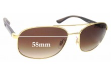Sunglass Fix Sunglass Replacement Lenses for Ray Ban RB3593 - 58mm Wide