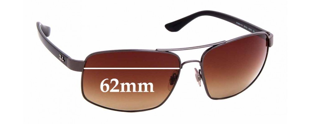 Sunglass Fix Sunglass Replacement Lenses for Ray Ban RB3604 - 62mm Wide