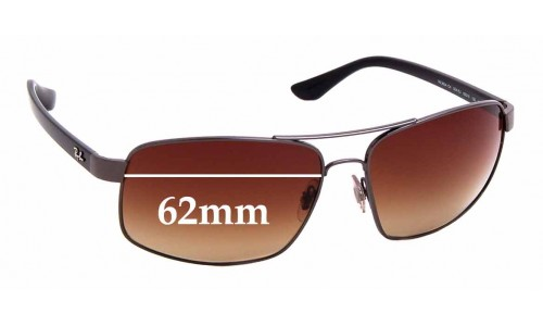 Sunglass Fix Sunglass Replacement Lenses for Ray Ban RB3604-CH - 62mm Wide