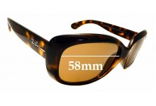 Sunglass Fix Sunglass Replacement Lenses for Ray Ban RB4101 Jackie Ohh - 58mm Wide