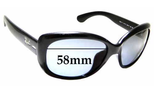 Sunglass Fix Sunglass Replacement Lenses for Ray Ban RB4101F Jackie Ohh (Asian Fit) - 58mm Wide